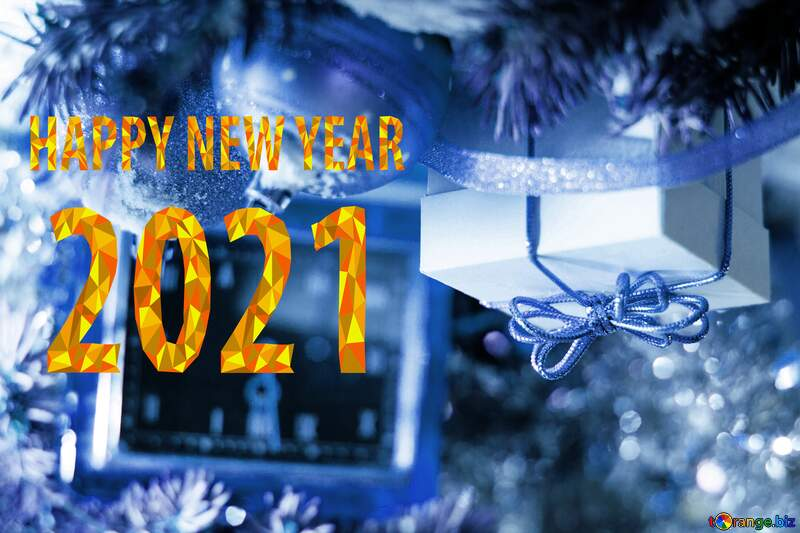 Greeting card 2021 new year №15364
