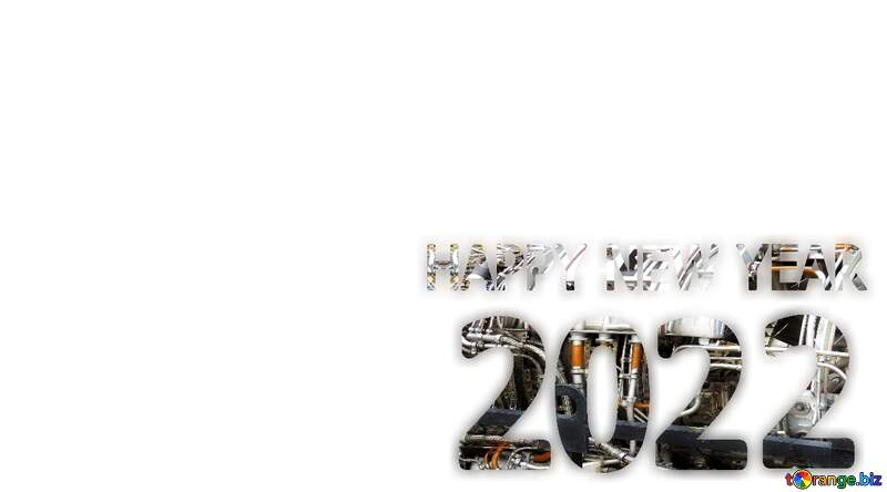 Happy New Year 2022 Technology metals pipe text №54745