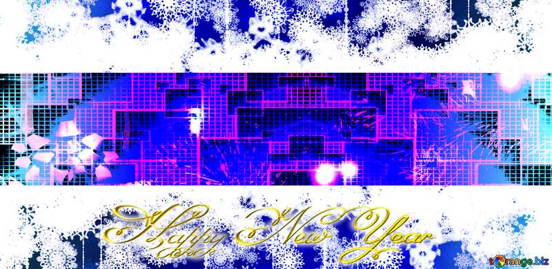 Happy New Year technology techno blue  background №2743