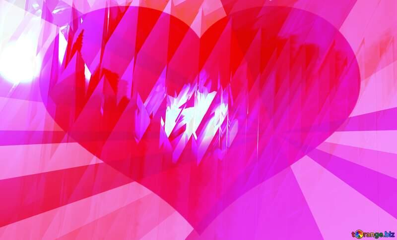 Heart pink  futuristic shape №51524