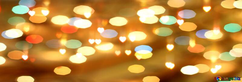 Hearts cover on Facebook Christmas background №37853
