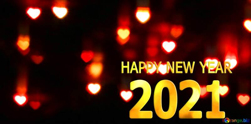 Hearts cover Happy New Year 2021 №37853
