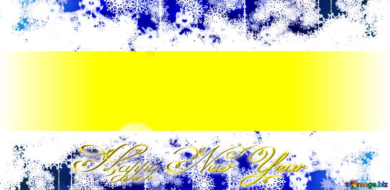 Illustration  Merry Christmas and Happy New Year  greeting card background for Web and Mobile app, art illustration template design Blue Gold yellow  Inscription text Happy New Year 3d №37815
