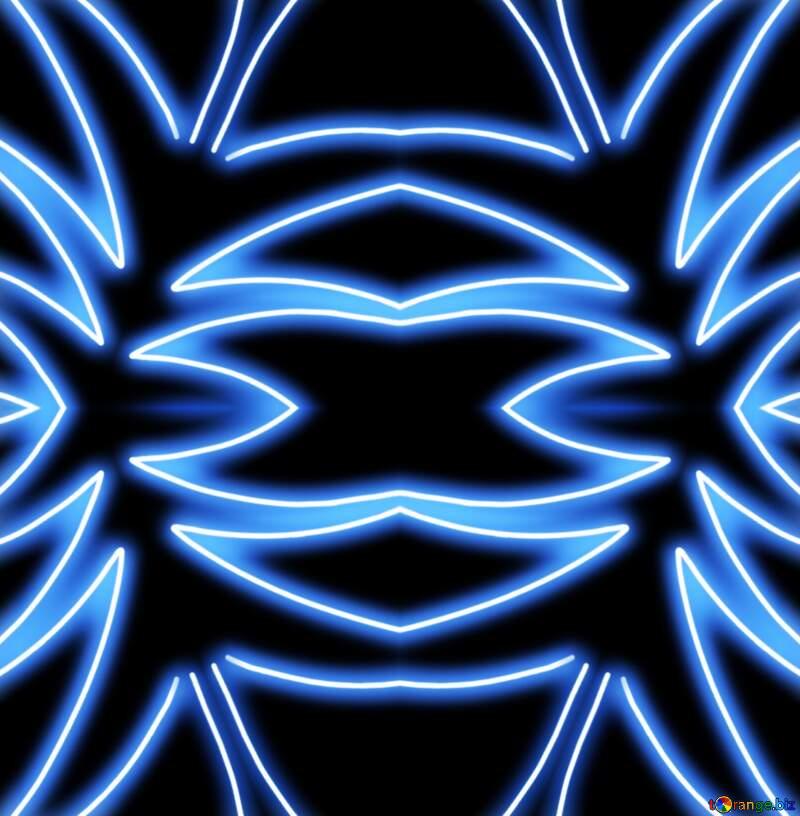 Neon blue drawing pattern №40649
