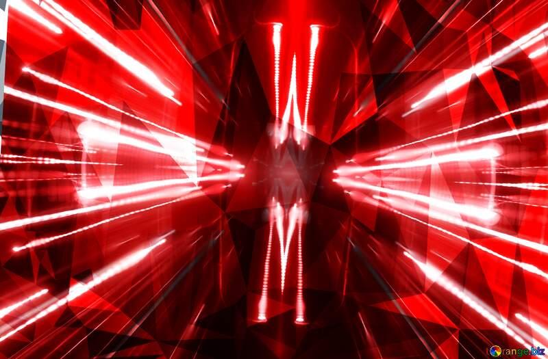 Night techno laser red  Polygonal background №638