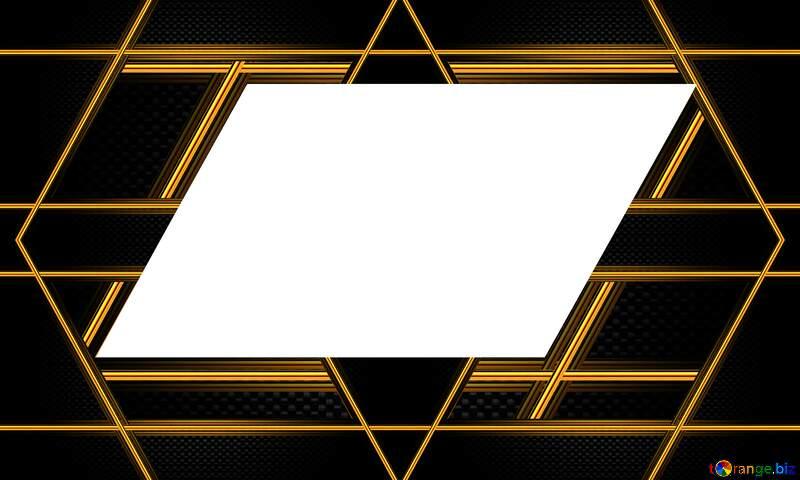 rectangle Carbon gold lines transparent  frame №54467