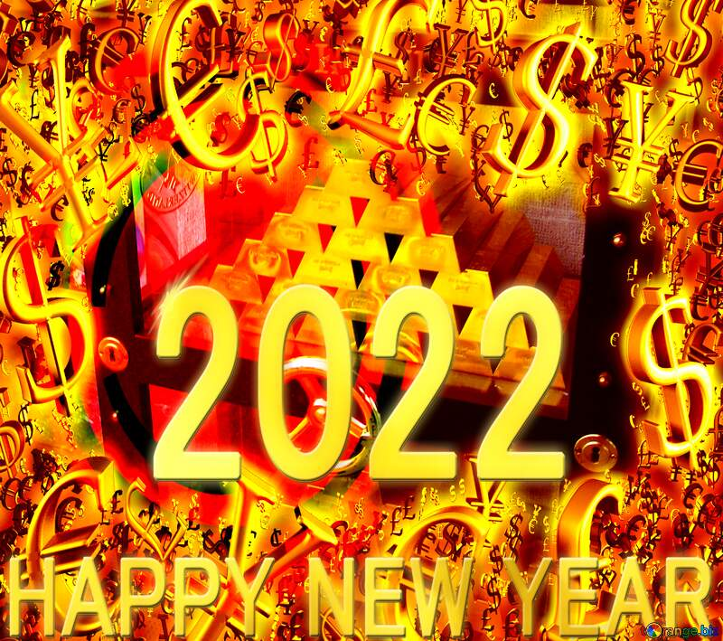 Safe with gold 2022 happy new year rich money Background Card №50170