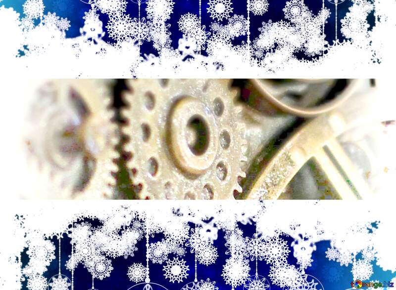 Steampunk  Christmas background №48981