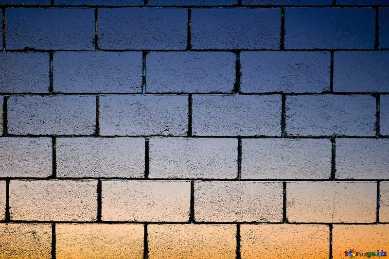 Sunset wall blocks №16062