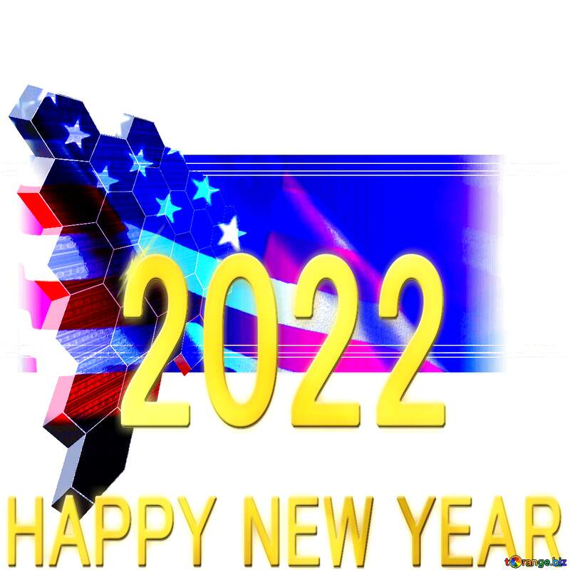 USA  it business concept 2022 Happy New Year background №49674