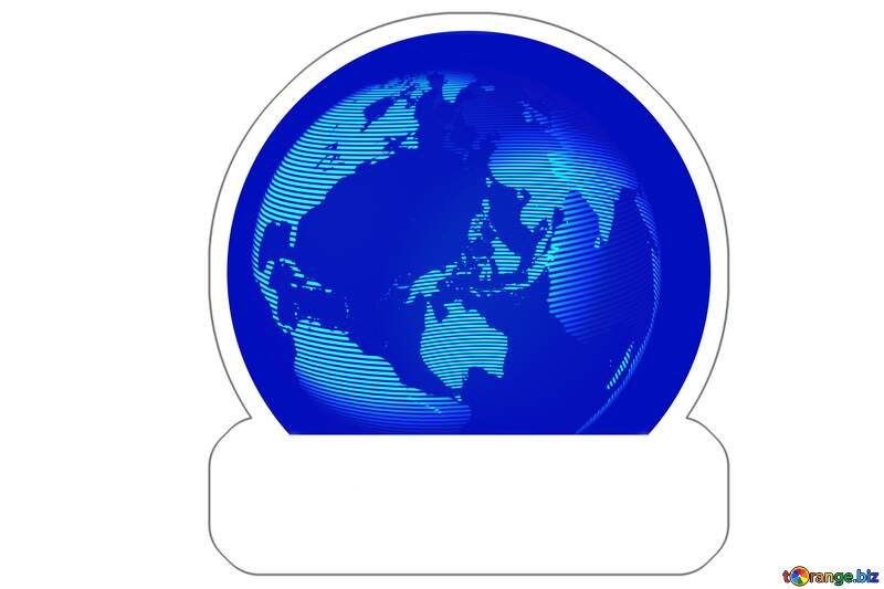 world earth Sticker template №54515