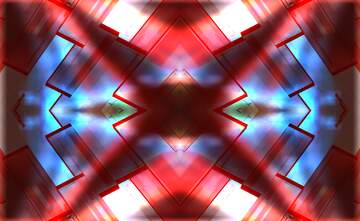 Creative 3d abstract squares fractal pattern