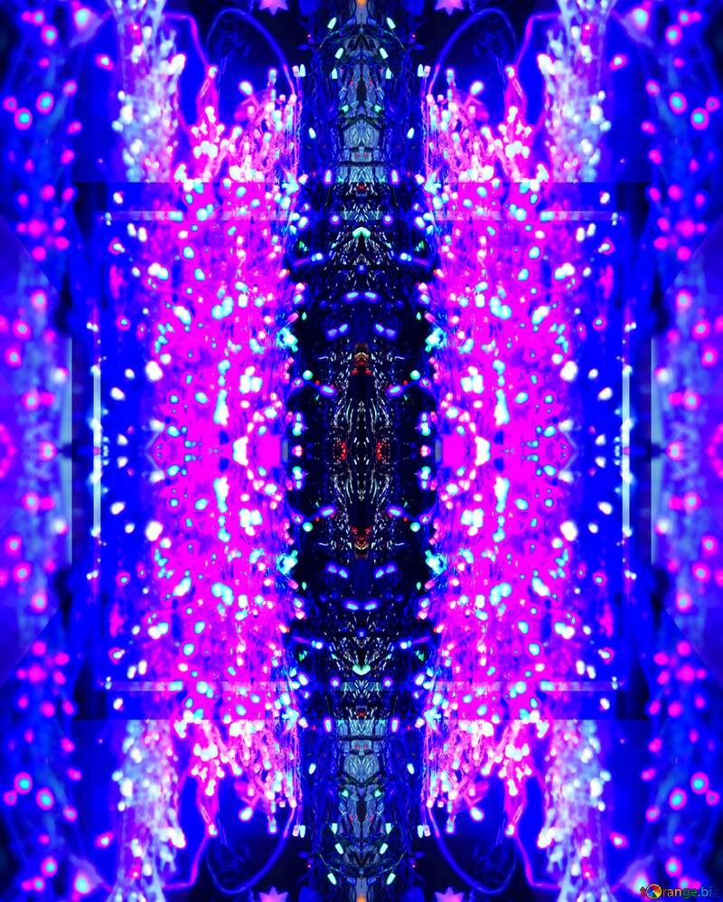 abstract  weird image with blue and purple lights №47867