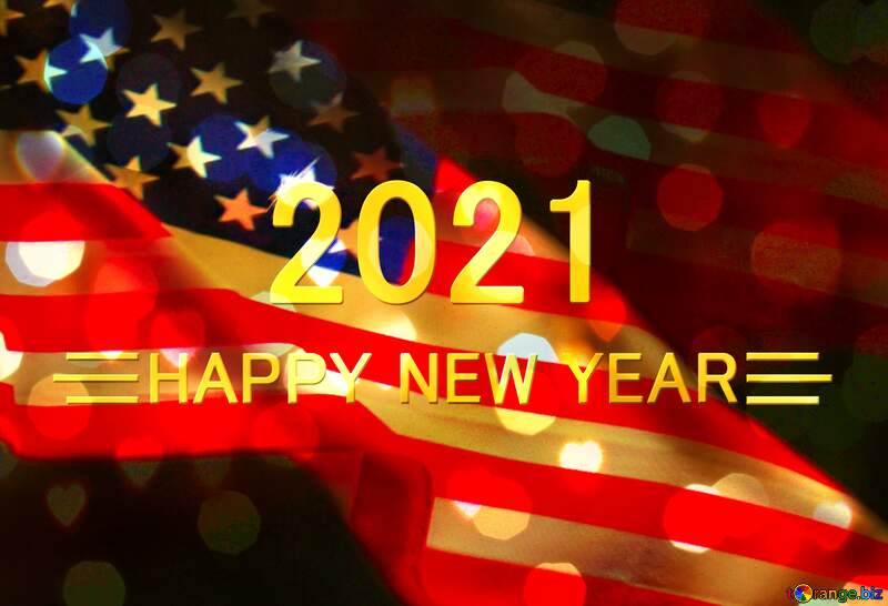 American Flag 2021 happy new year background №52480