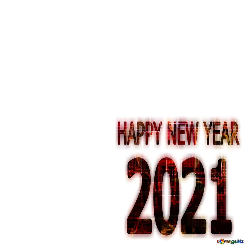 Art red text happy new year 2021  Technology №49678
