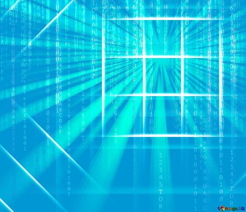 Blue code sunrise White lines geometrical pattern Background Digital №54748