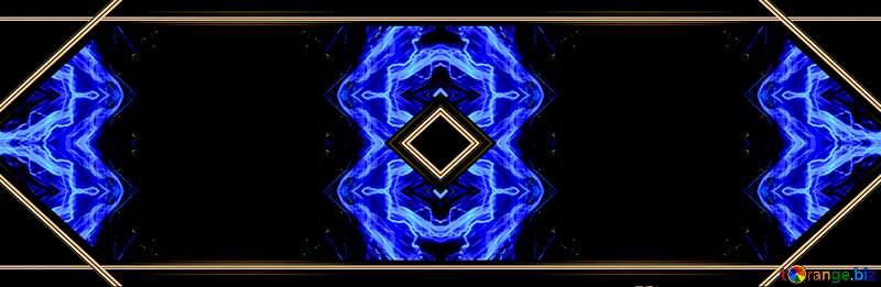 blue wave fractal frame №25856