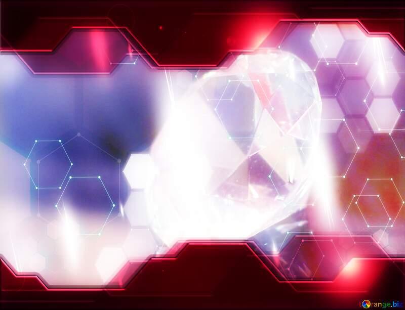 A close up of a bright light blurry red purple design technology graphics diamond hi-tech elements №52795