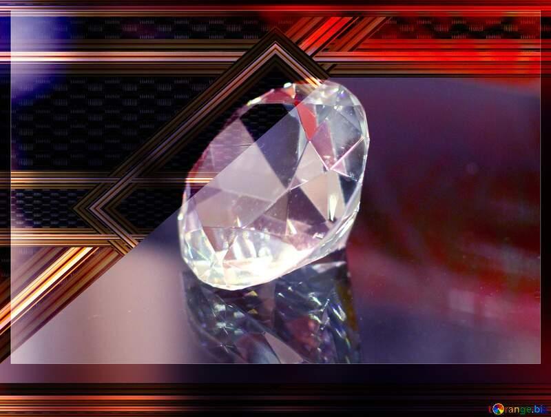 Diamant gold lines geometrical frame №52795