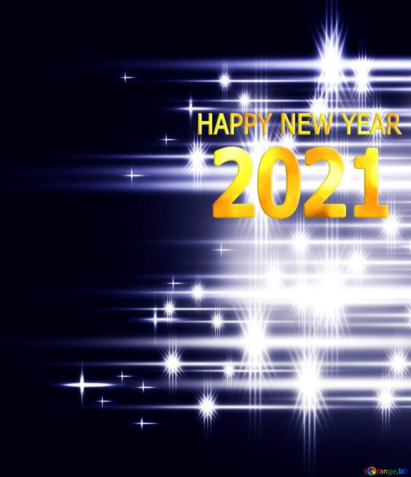 Elegant shiny white bright background fog blue Happy New Year 2021 №54753