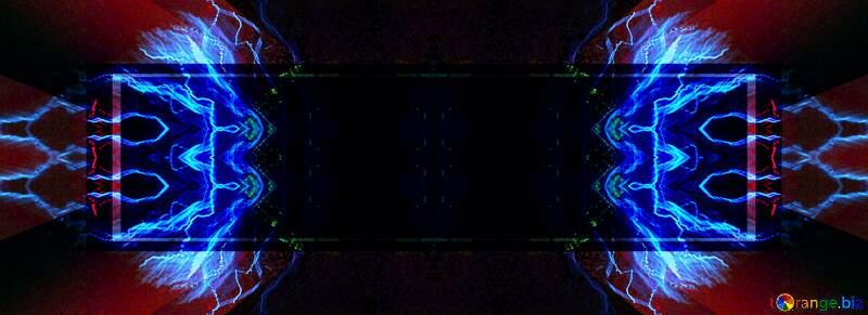 fractal blue  banner design №25856