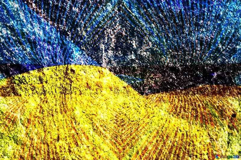 Granite. Ukraine flag №1301