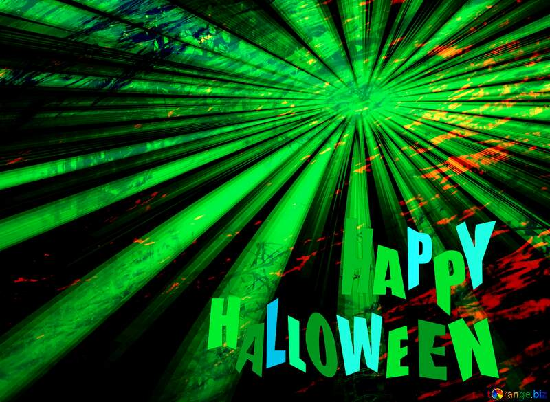 happy haloween green  blank illustration template №25211