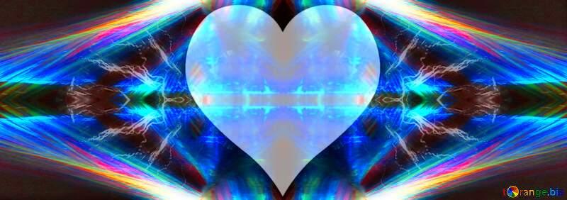 Love fractal  Heart shaped background №25856