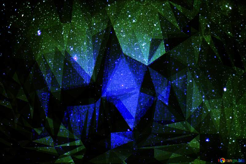 Starry Polygonal sky background №44731