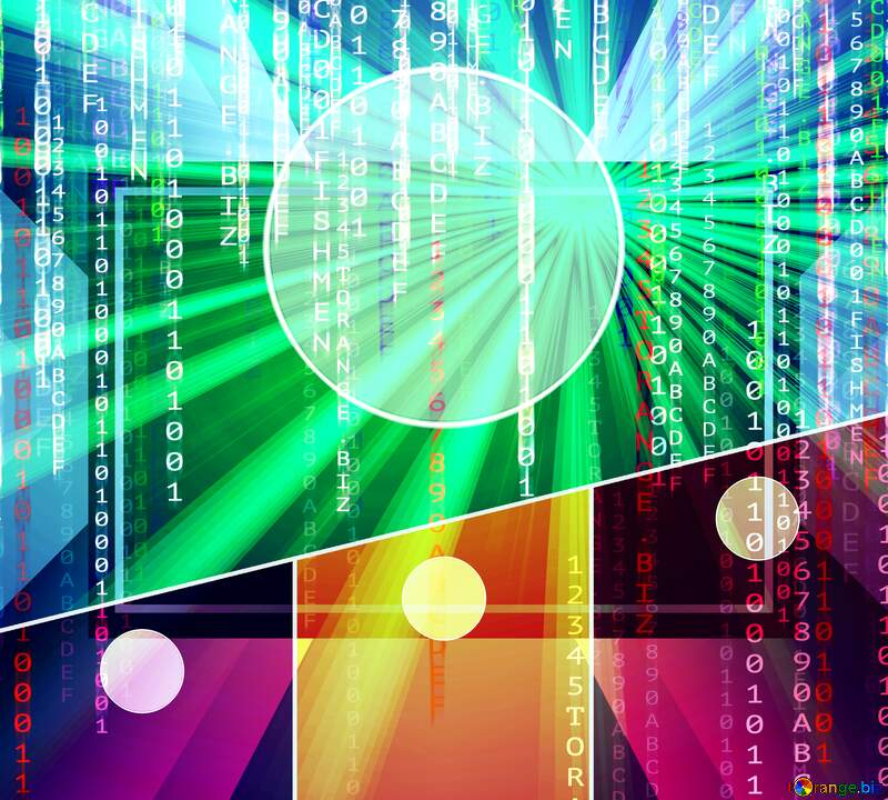 bright  background design Digital matrix style infographic №54473