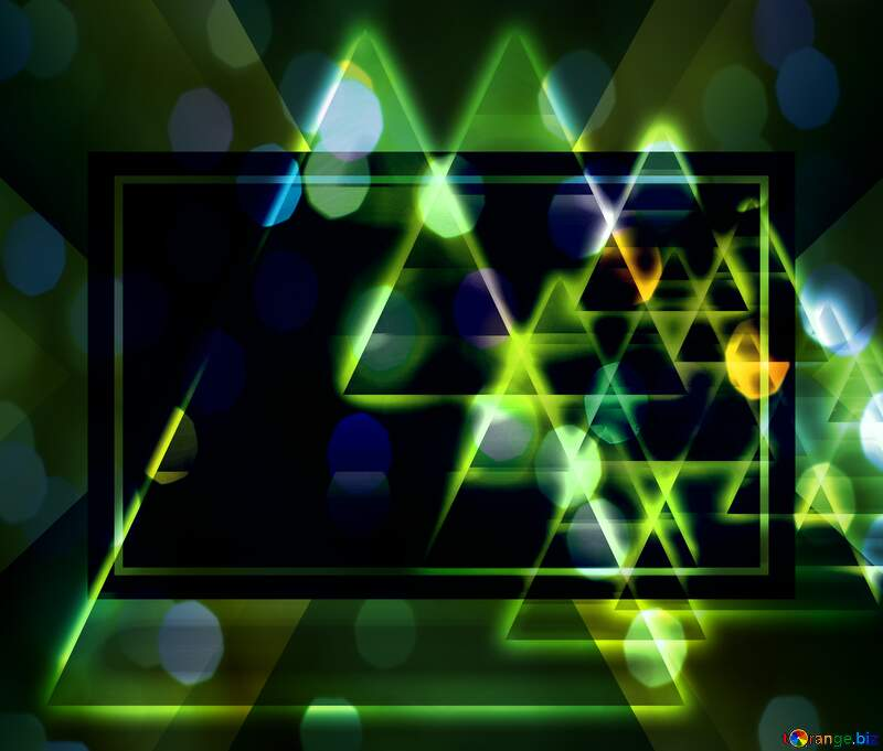 Colors dark design pyramids shiny neon background №54760