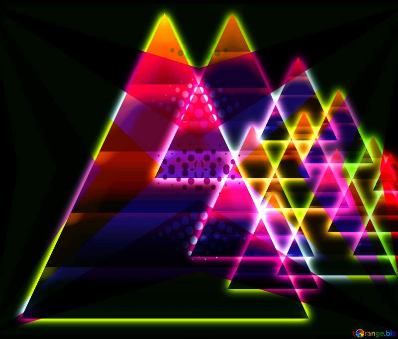 Colors geometry neon glow fractal  background №54760