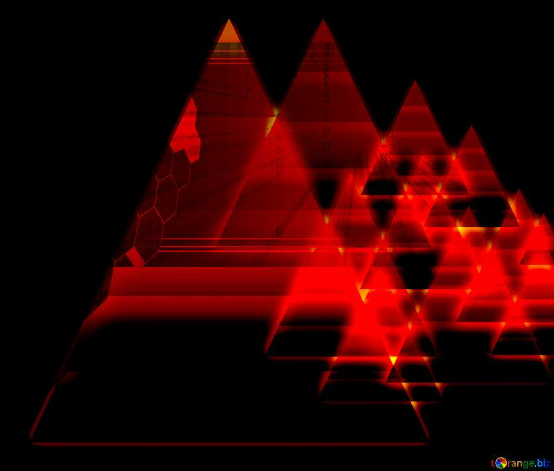 dark red  glow pyramids background №54760
