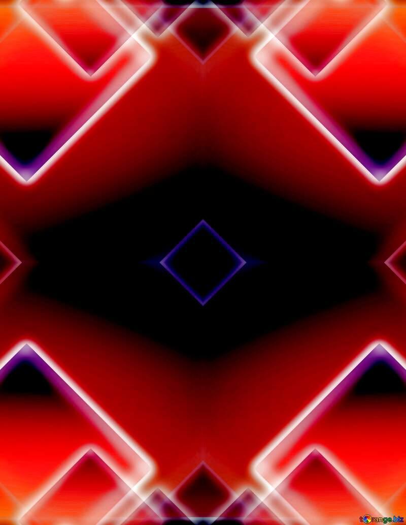fractal glow squares design background №54757