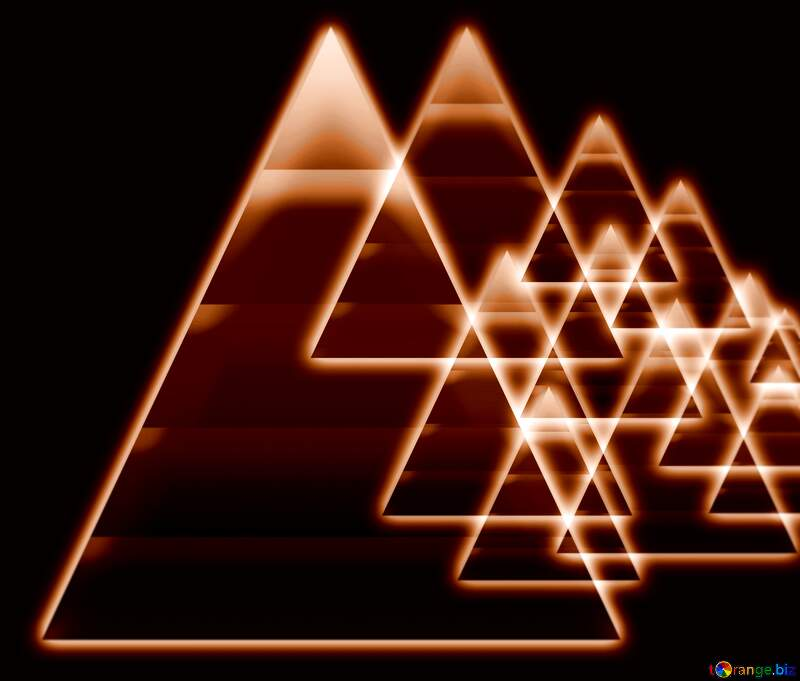 glow dark pyramids knowledge wisdom shiny neon background №54760