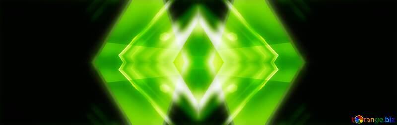 green triangle dark design background neon glow №54760