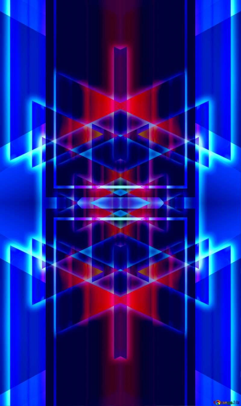 neon glow lines  pattern  background №54760