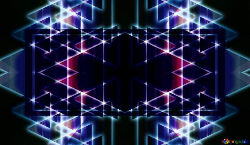 Neon lights on black background dark shiny blue pattern №54760