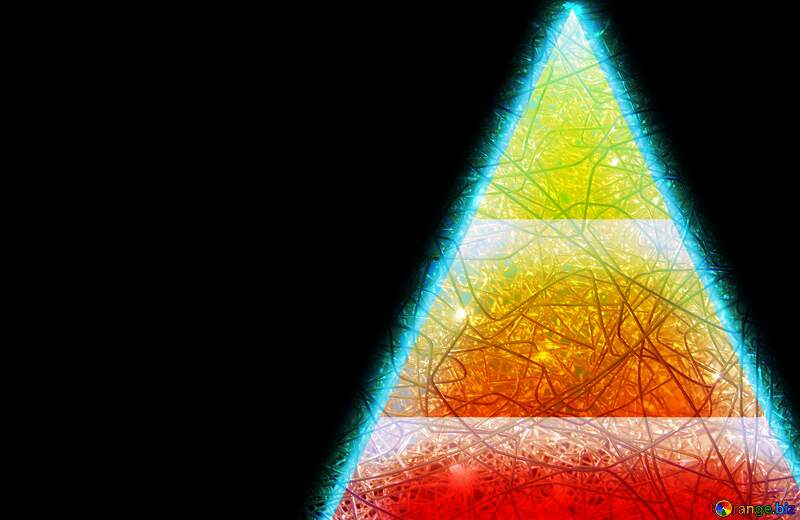 pyramid triangles chaotic background №54758