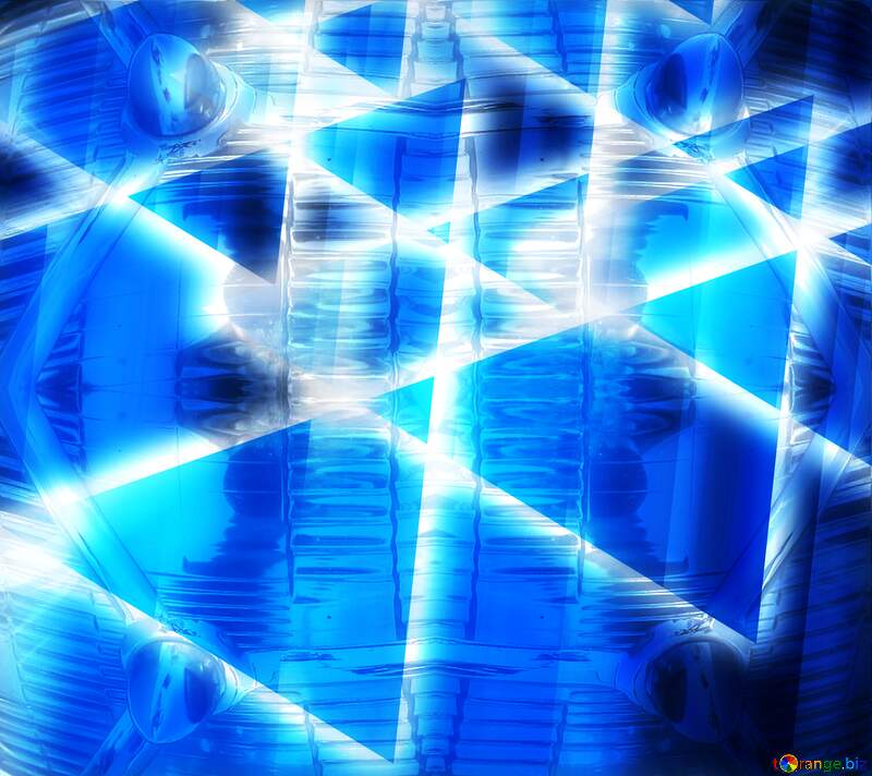 pyramids shiny neon glow blue №54760