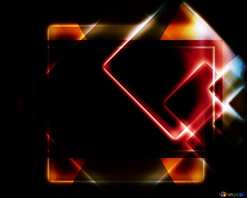 Squares glow dark background №54757