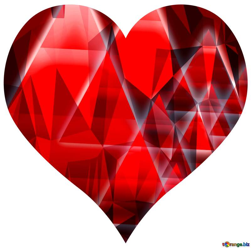 techno design glow heart №54760