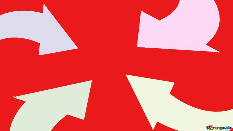 Arrows on red  background №54780