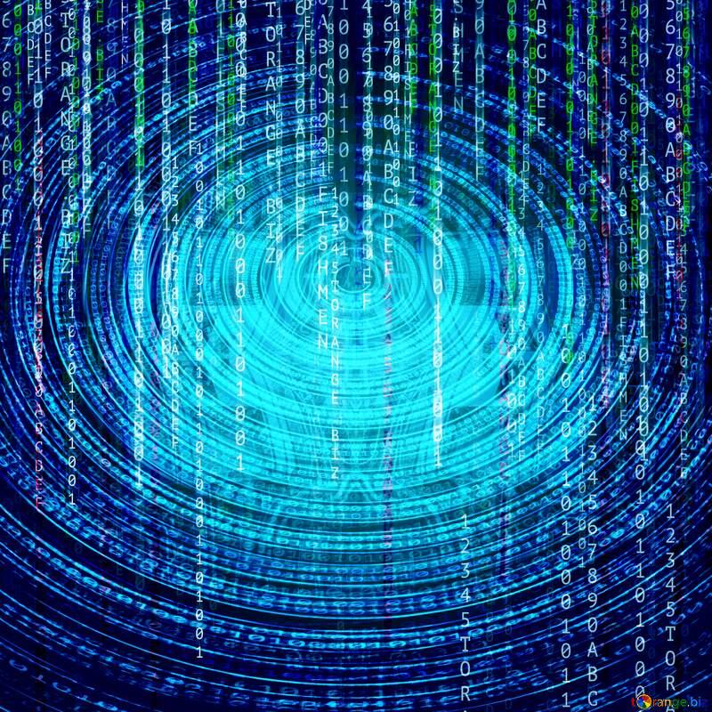 Hacker matrix style blue background №49671