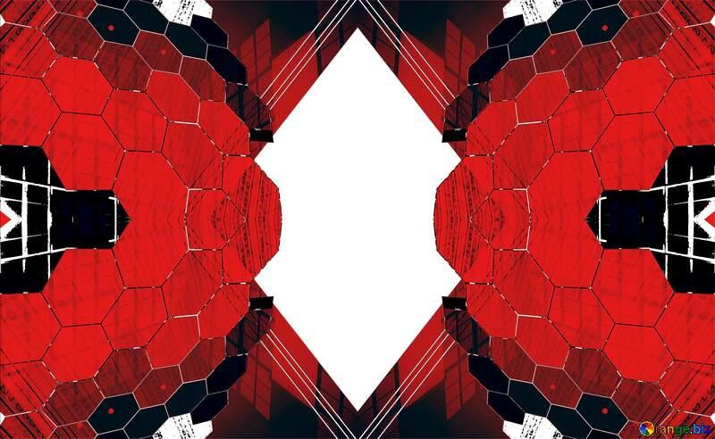 Transparent   concept square frame red №49674