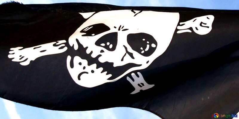 Pirates flag JOLLY ROGER №2277