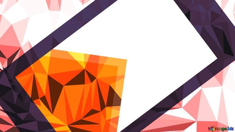 Polygonal Frame opacity Youtube thumbnail transparent background №54832