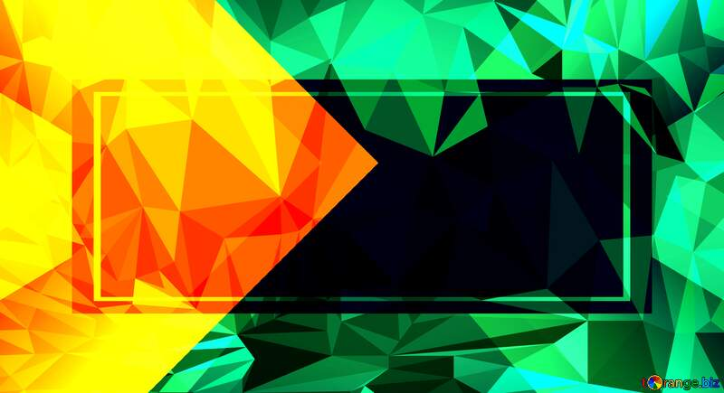 Polygonal  Frame thumbnail background website infographic template №54832