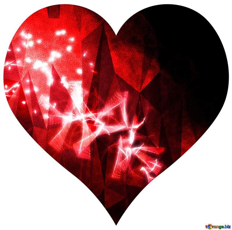 Polygonal techno heart №40641