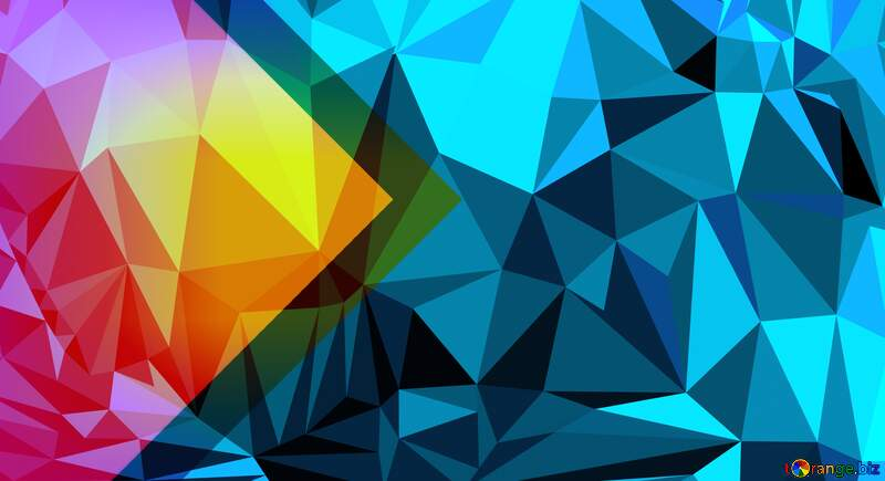 Polygonal  thumbnail background blue №54832